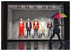 Walk on by... (gro57074@bigpond.net.au) Tags: candid street rainbowumbrella cbd sydney pittstreetmall 50mmf14 sigma sigmaartseries d850 nikon manwithumbrella wet cold umbrella