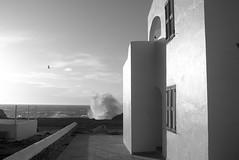 Temporary west at the door of home (José J. Almuedo) Tags: fineart afternoonfall home ocean mar olas mediterráneo temporal storm blackandwhite wave 35mm bw 35mmbw leicax1 leica spain menorca mediterranean seashore seascape coast coastline