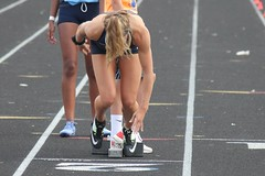 Get Out of the Blocks (KenSportShots) Tags: race girlstrack trackandfield 200meters 200m blocks