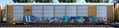 Uter/Levis (quiet-silence) Tags: graffiti graff freight fr8 train railroad railcar art uter levis mfk autorack csx cttx692548