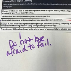 I love this simply stated takeaway from today's #NCDLCN session. We need to foster environments that allow educators the room to fail, reflect, regroup, and redesign. #ilovemyjob (PTank Media Center) Tags: i love this simply stated takeaway from today's ncdlcn session we need foster environments that allow educators room fail reflect regroup redesign ilovemyjob
