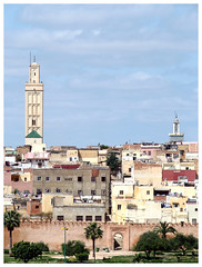 Skyline (Gurugo) Tags: meknès morocco marrocos maroc vista view skyline perfil muralha wall minarete minaret cidade city casas houses tower torre medina gate porta portão