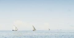 Madagascar - Traditional sailing fishing boats (The Black Fury) Tags: madagascar fishing sea seascape blue water boat white light sky minimalist