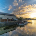 THE UPPER CORRIB AND LOUGH CORRIB [AT SUNSET USING AN ULTRA WIDE ANGLE LENS]-141659