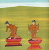 35. Lady Humpback (Shingón nat) and 36. Lady Bandy Legs (Shingwá nat) from The thirty-seven nats : a phase of spirit worship prevailing in Burma (1906) by William Griggs (1832-1911) (Free Public Domain Illustrations by rawpixel) Tags: buddhist burmese otherkeywords ancient antique asia asian belief believe buddhism burma cc0 creativecommon0 creativecommons0 drawing faith green greenspirits griggs heaven hindu hinduism historical history holy illustrated illustration ladybandylegs ladyhumpback legend myanmar myanmarese mythology old prevailing publicdomain rama ramayana red religion shingwánat shingónnat soldier spirit story thethirtysevennats traditional vintage william williamgriggs worship