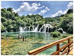 Bathers (aiva.) Tags: croatia krka waterfall dalmacia hrvatska dalmatia people naturepark