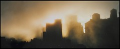 New York dawning. (oxford_don1a) Tags: sunrise misty newyork nyc city