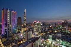 Ho Chi Minh City (Rolandito.) Tags: south east southeast asia vietnam saigon ho chi minh stadt city vantage point skyline dusl twilight light lights evening abend