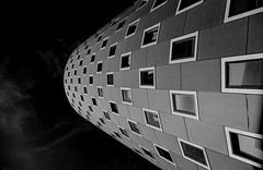 space to live (christikren) Tags: austria architecture blackwhite christikren facade grey monochrome panasonic sw vienna classic new quer windows space room live reflections sky leica building geometry linescurves momo camera wien geometriegeometry abstract city