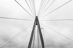Bridge in Paraguay (Luiz Contreira) Tags: bridge paraguay paraguai southamerica américadosul ponte brazilianphotographer blackwhite bw monocromático nublado pretoebranco pb arquitetura architecture