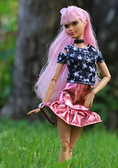 Daisy Pop (Annette29aag) Tags: barbie fashionista madetomove daisy pink photography toy outdoor articulated pose
