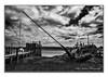 Beached (deltic22) Tags: skipoolcreek thornton fylde yatch boat grass jetty mast pier clouds sky mono