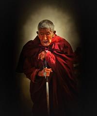 The glory of aging !! (Lopamudra !) Tags: lopamudra lopamudrabarman lopa ladakh jk man old aged portrait hemis festival buddhism buddhist buddism buddha religion religious devout sacred glory enlightenment india himalaya himalayas life humanity picture lightandshade light shadow shade