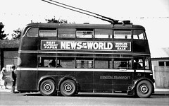 London transport B1 trolleybus  73 on route 654 Crystal Palace 1950's. (Ledlon89) Tags: london bus buses transport lt lte londontransport londonbus londonbuses trolleybus trolleybuses electrictransport crystalpalace