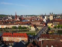 Würzburg (sharon.corbet) Tags: 2018 bridge river mainriver church germany bavaria franconia würzburg