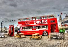 Diner (Yorkie Chris) Tags: street streetfood diner liverpool bus londonbus routemaster waterfront albertdock