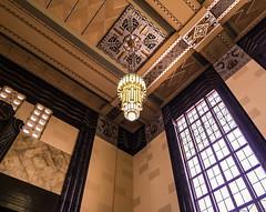 Corner Chandelier (iMatthew) Tags: omaha renovation adaptivereuse historicpreservation architecture historictrainstation omahaunionstation artdecoarchitecture