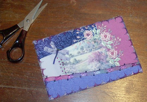 Crazy Quilted Postcard - Tutorial - Step 7