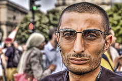 This is classified (Stuck in Customs) Tags: portrait lebanon paris france face beard glasses israel war serious guess muslim rally protest dream middleeast terrorist forza terror terrorism beirut hezbo