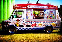 i scream you scream we all scream for ice cream (Baby Skinz) Tags: lomo lca crossprocessed fairground icecream funfair vignette icecreamvan