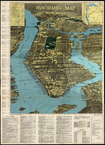 NYC Vintage Panoramic Map / Dave Kellam