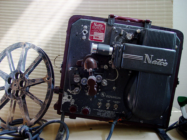 old movie projector sound