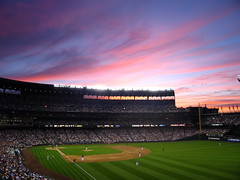 Safeco: Mariners vs Sox (Sean Munson) Tags: seattle sunset washington baseball stadium mariners safeco wa safecofield ballpark i500 interestingness361 dopplr:explore=uqd1