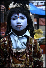 Shiva on the street (Vivek M.) Tags: india festival market bangalore krishna karnataka hinduism janmashtami