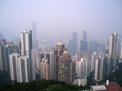 Hong Kong, the peak (Nastrina1981) Tags: china panorama hk color colour building colors skyline contrast skyscraper buildings landscape hongkong haze view skyscrapers horizon peak vista grattacielo altezza montagna contrasts height cina paesaggio edifici orizzonte foschia picco contrasti contrasto victoriaspeak grattacieli