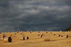 bales & clouds - by Joe Dunckley