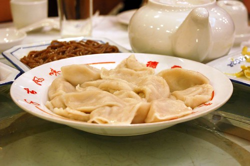Traditional boiled pork dumplings