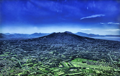 Mount Vesuvius from the Sky (Stuck in Customs) Tags: italy mountain amalficoast d70 pompeii napoli naples vesuvius hdr pompei