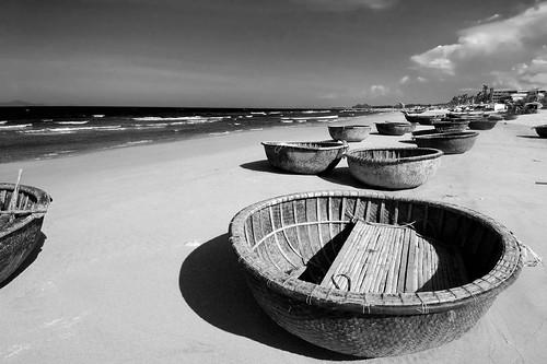 Grey Boats, White Sand