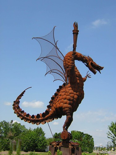 dragon sculpture at marshfield 2