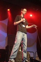 Gabe on stage (DarkPhibre) Tags: panel sunday gabe pax pennyarcadeexpo pax06