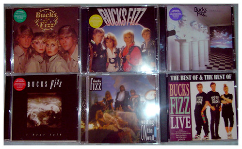 Some of my Bucks Fizz CDs