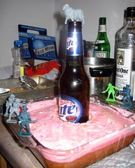 the battle for Miller Lite Hill (Stu_Jo) Tags: nyc newyorkcity cake brooklyn greenpoint millerlite themostwelldocumentedpartyever