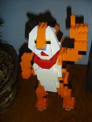 Lego Tony the Tiger (Zeusandhera) Tags: creek lego tiger great battle tony