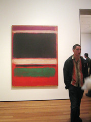 clothing coincidence (roxydynamite) Tags: nyc newyorkcity art painting modernart moma museumofmodernart rothko coincidence stripedshirt patrons