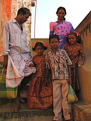 The Family at Vedagirishwa (Christian Lagat) Tags: portrait woman india children geotagged women femme indianarchive enfant tamilnadu inde  tirukalikundram indiasong 50millionmissing