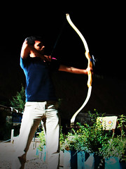 My Bro, the Archer (Hamed Saber) Tags: night geotagged ir persian iran brother persia saber aim iranian archery archer tehran  hamed hossein tochal farsi            geo:lon=51402454 geo:lat=35820388