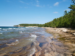 Mosquito Beach I (farlane) Tags: vacation up pine rocks michigan pictured national lakeshore lakesuperior twelve picturedrocks picturedrocksnationallakeshore
