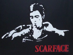 Al in Scarface (REDRUM (AYS)) Tags: stencil redrum scarface