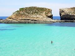 Comino  Laguna Blu (*DaniGanz*) Tags: blue sea water rock island europe mare blu turquoise malta roccia acqua azzurro bluelagoon mediterraneansea azur isola turchese comino marmediterraneo daniganz lagunablu