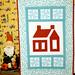 Red & Aqua Swap little quilt by Happy Zombie