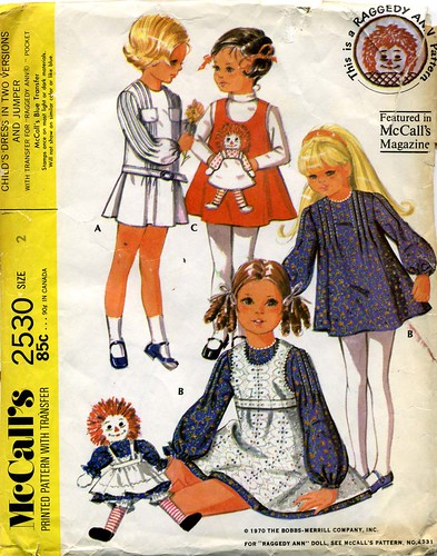 Raggedy Ann Dress Pattern, 1970