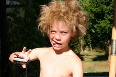 Hey - look at me!!! (Kirsten M Lentoft) Tags: boy topv111 nokia child phone troll mobilphone mads mobiltelefon trold momse2600 kirstenmlentoft