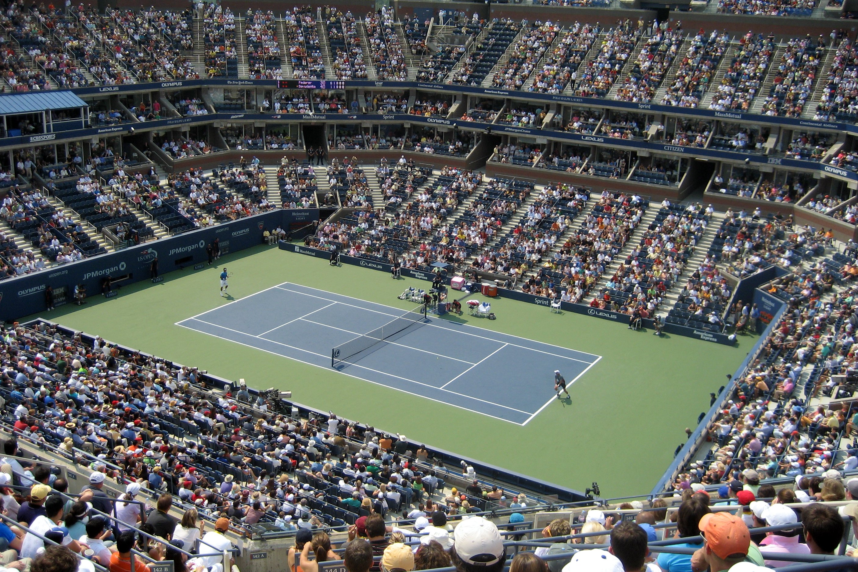 Map of Arthur Ashe Stadium The Full Wiki