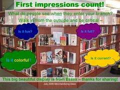 First impressions count! (hypatia atoz) Tags: public md display interior maryland baltimore essex entry merchandizing baltimorecounty august2006 libraryandlibrarians