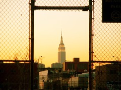 Empire State Building at Sunset (justiNYC) Tags: nyc newyorkcity brooklyn williamsburg fotour justinyc